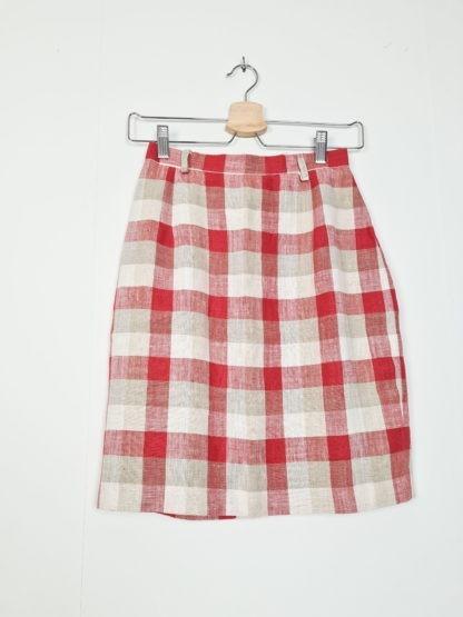 tailleur jupe à carreaux rouge blanc gris (6)