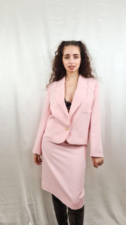 tailleur jupe rose pastel (2)