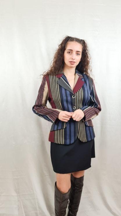 tailleur pantalon à rayures verticales (3)
