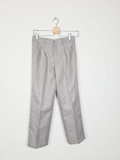 tailleur pantalon gris à rayures noires (2)