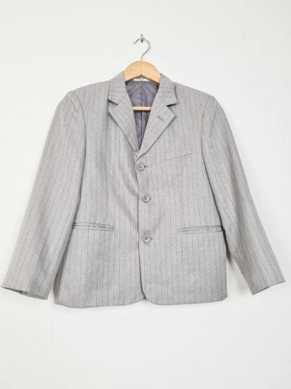 tailleur pantalon gris à rayures noires (3)
