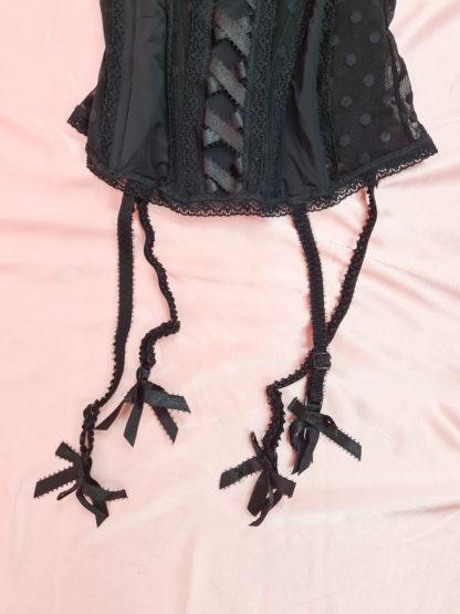 bustier noir motifs pois (3)