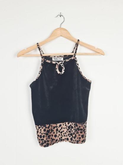 crop top velours noir leopard (5)