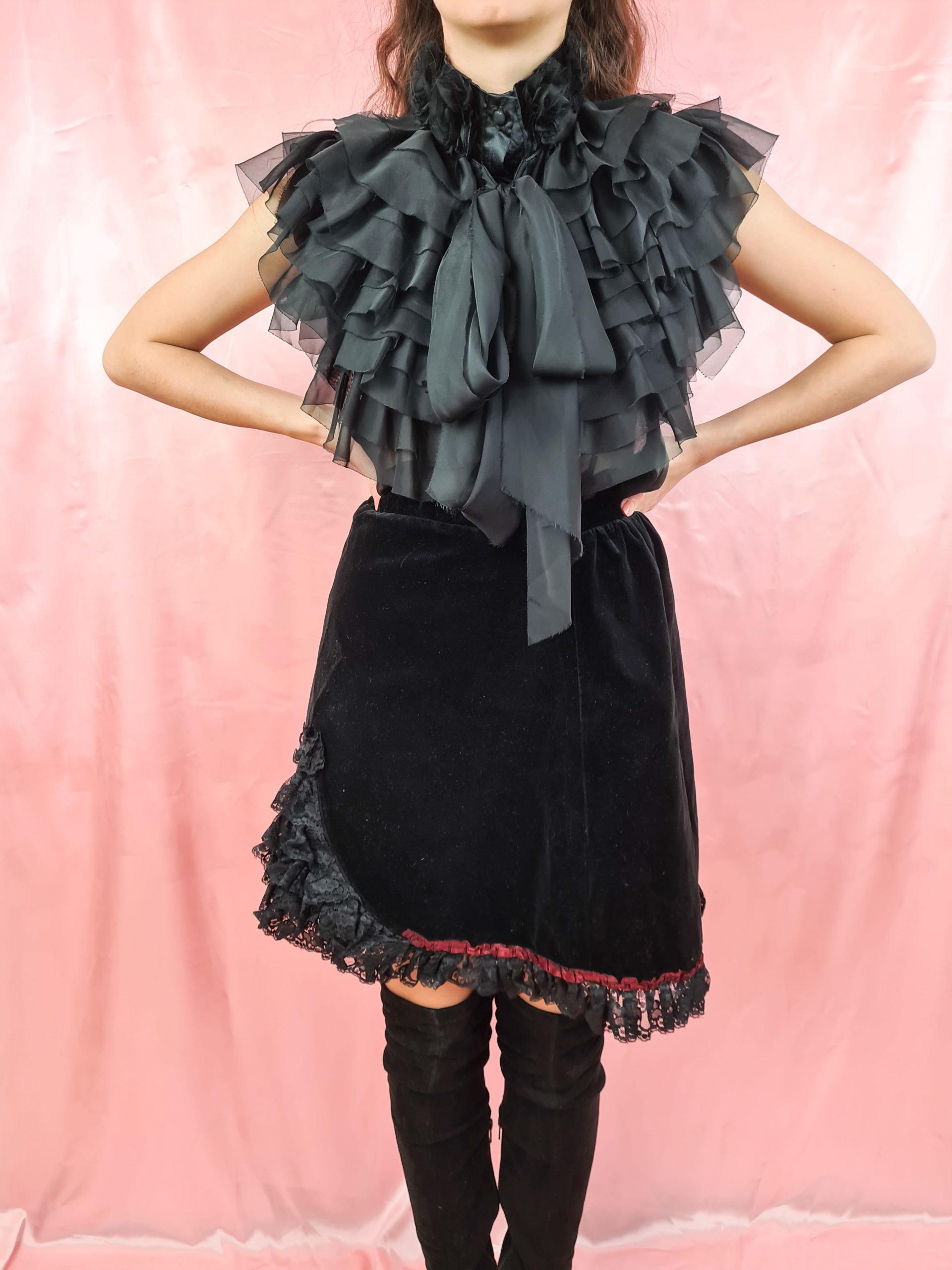 jupe en velours noire (1)