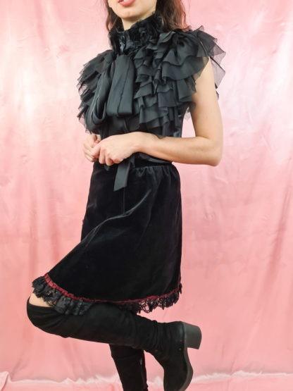 jupe en velours noire (2)