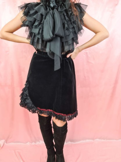 jupe en velours noire (4)