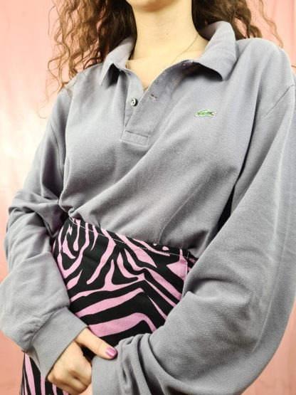 polo Lacoste lilas manches longues (4)