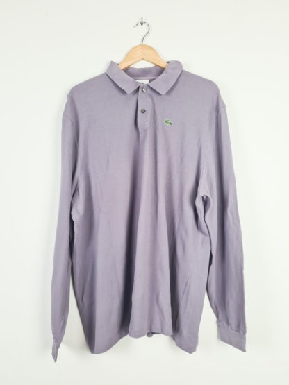 polo Lacoste lilas manches longues (6)