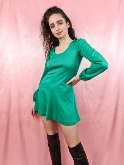 robe verte emeraude manches longues (1)