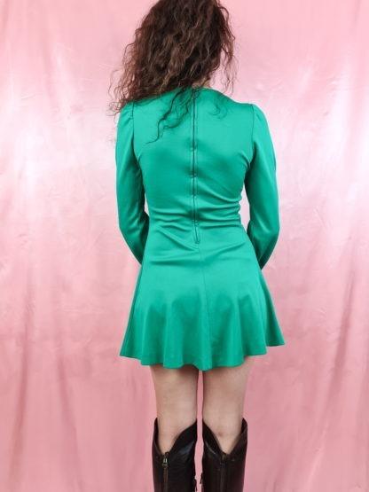 robe verte emeraude manches longues (2)