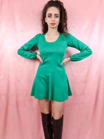 robe verte emeraude manches longues (4)