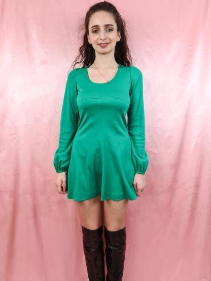 robe verte emeraude manches longues (5)