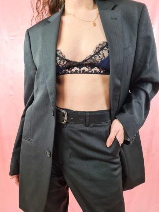 tailleur pantalon ligne verticales grises (4)