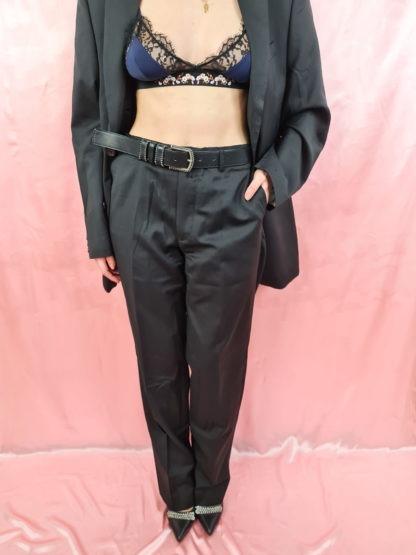 tailleur pantalon ligne verticales grises (6)