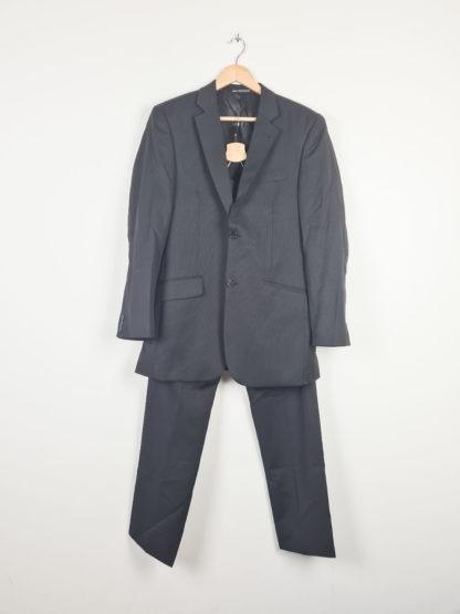tailleur pantalon ligne verticales grises (9)