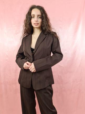 tailleur pantalon marron (3)