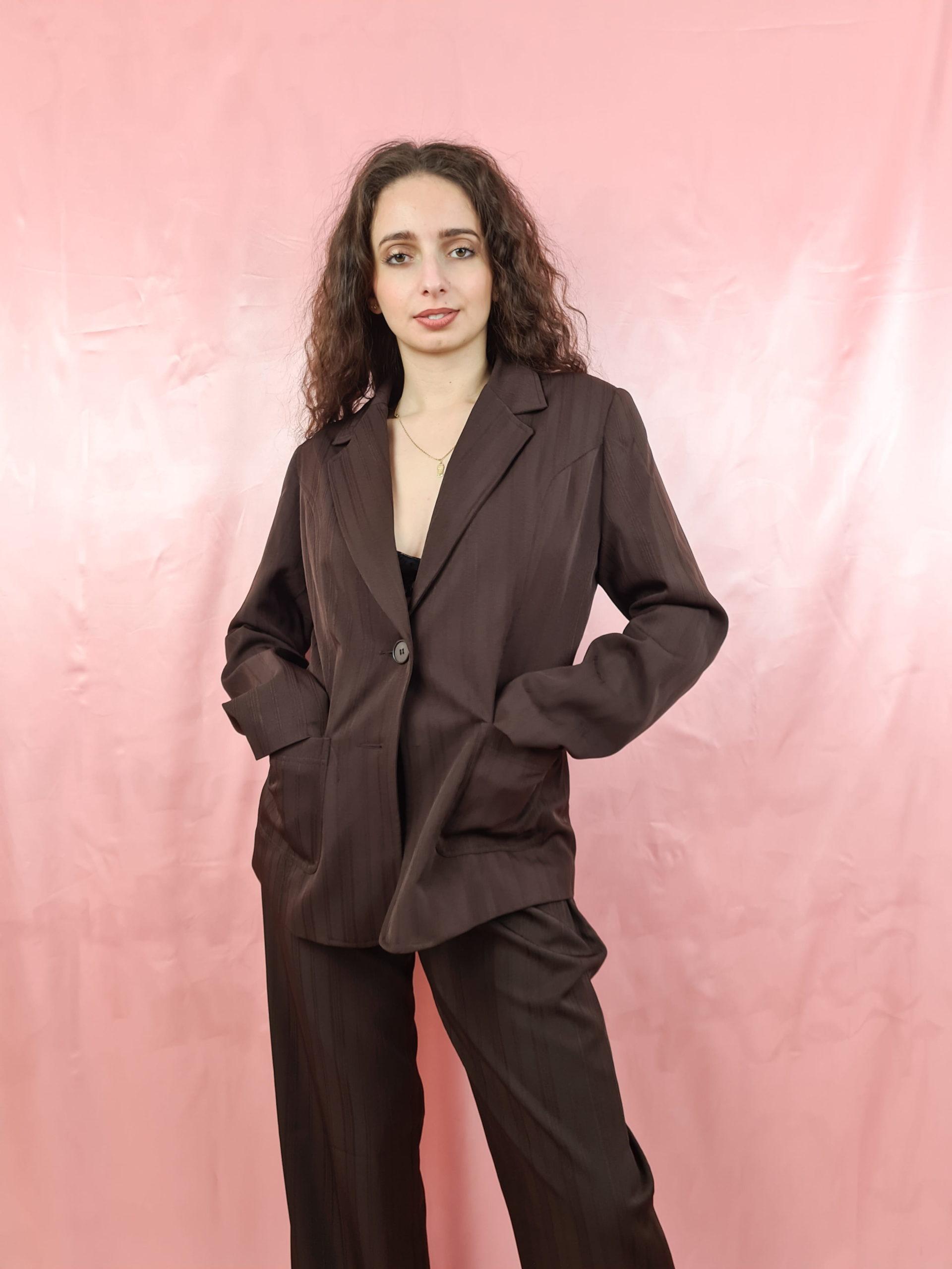 tailleur pantalon marron (4)
