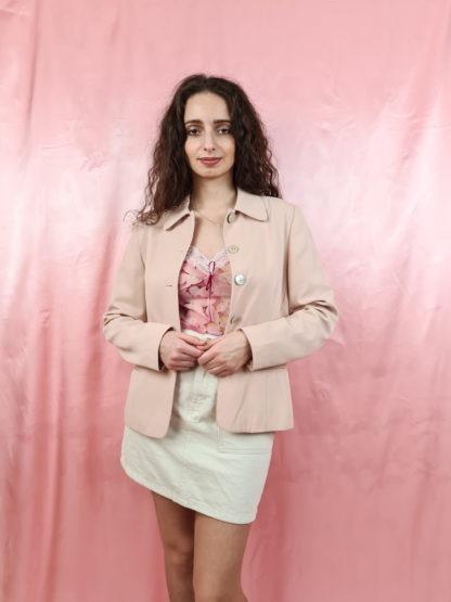 tailleur pantalon rose pale (1)
