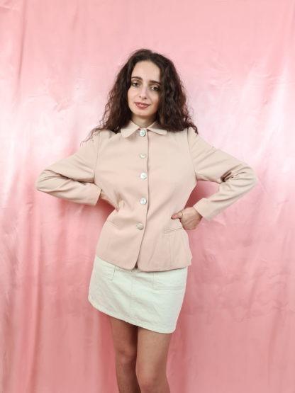 tailleur pantalon rose pale (4)
