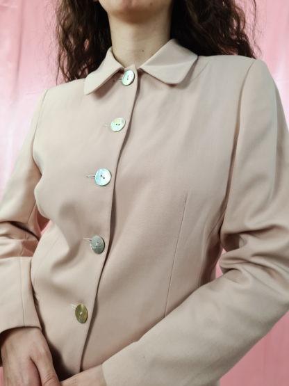 tailleur pantalon rose pale (5)