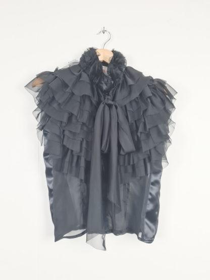 top noir transparent froufrou (5)