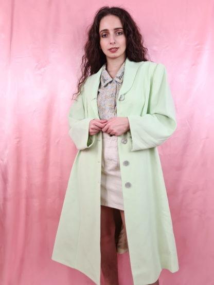veste longue vert anis (2)