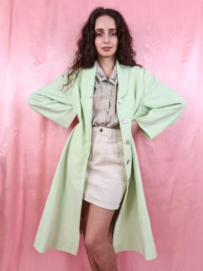 veste longue vert anis (5)