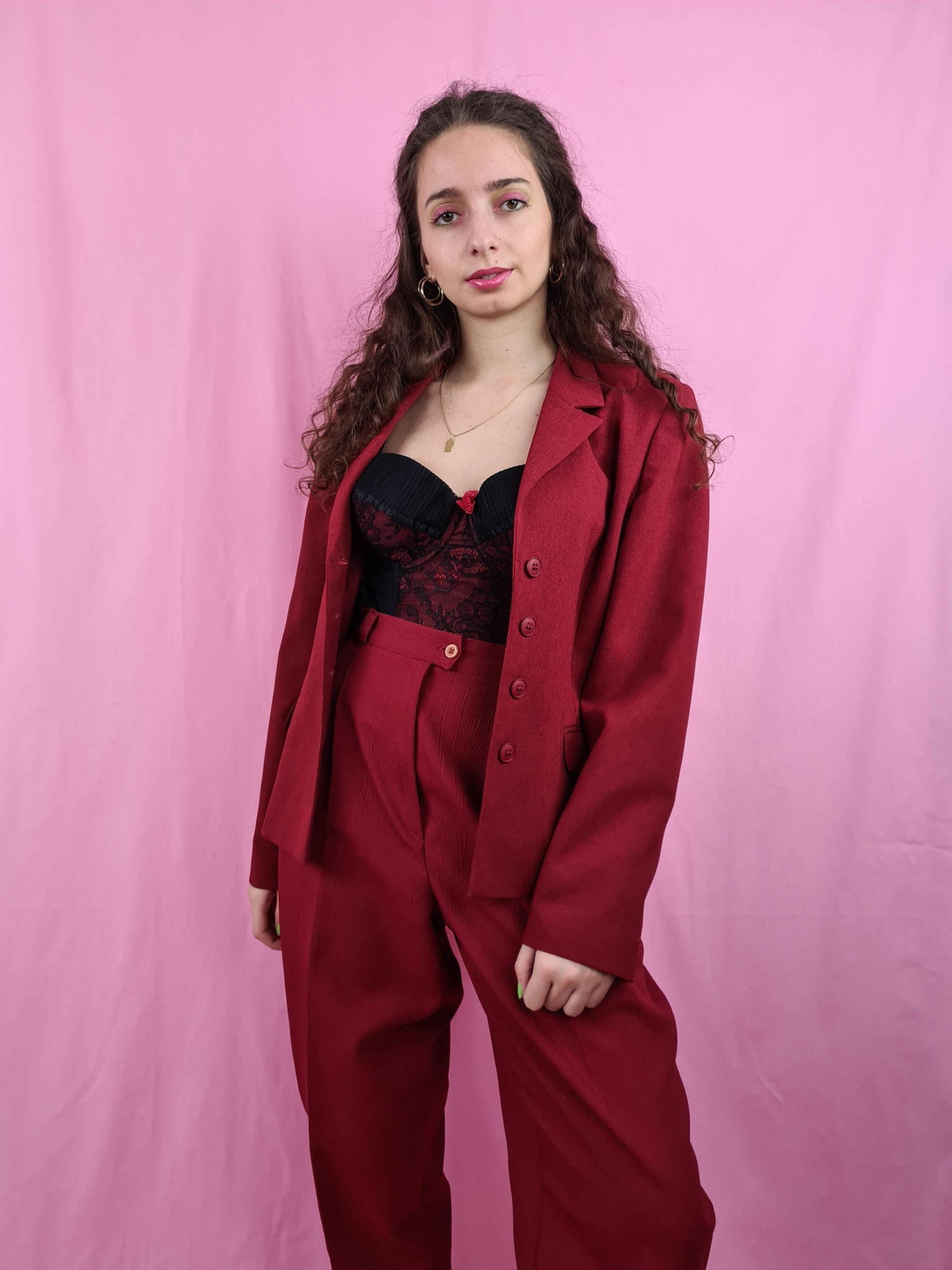 blazer rouge foncé (7)