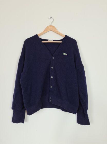 cardigan Lacoste vintage bleu marine (7)
