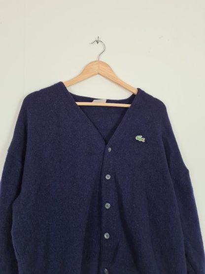 cardigan Lacoste vintage bleu marine (8)
