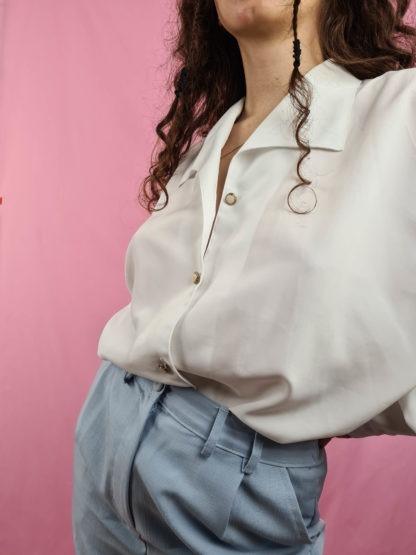 chemise blanche vintage boutons dorés (4)