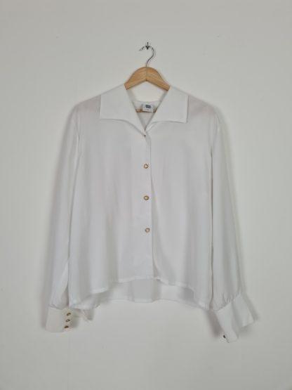chemise blanche vintage boutons dorés (5)