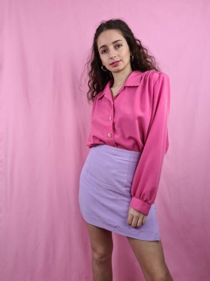 chemise fushia manches longues (1)