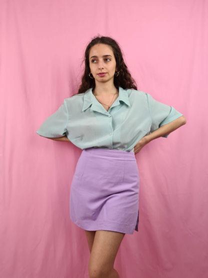 chemise vert d'eau manches courtes (1)