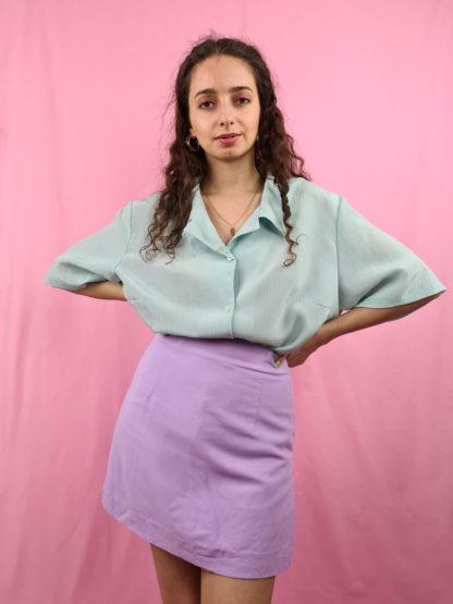 chemise vert d'eau manches courtes (5)