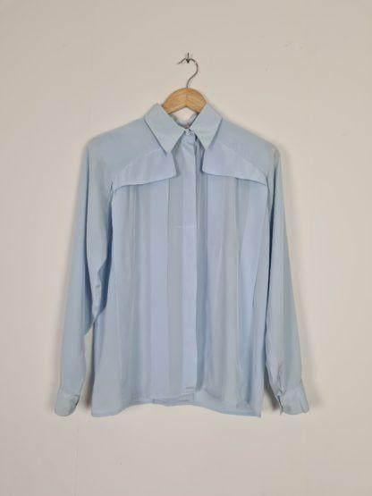 chemise vintage bleue ciel (6)