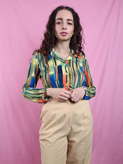 chemise vintage rayures 70s (4)