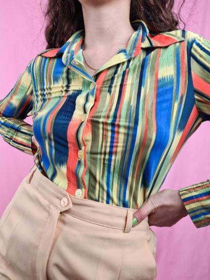 chemise vintage rayures 70s (5)