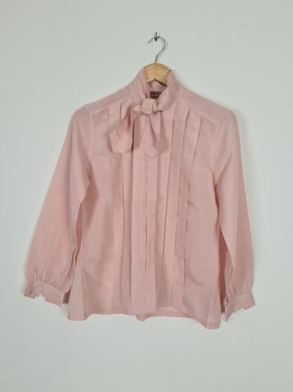 chemisier rose col lavalliere (5)