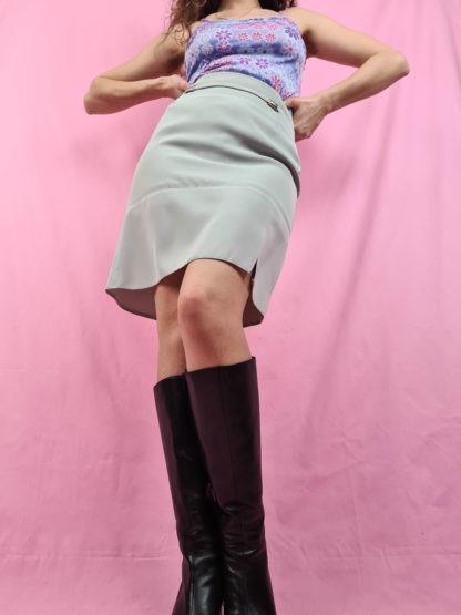 jupe bleue pastel fente (3)