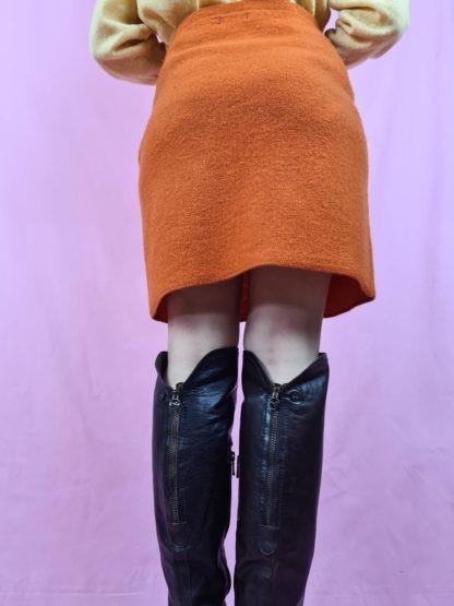 jupe épaisse orange (3)