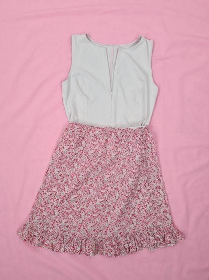 jupe légère blanche motif fleuri (1)