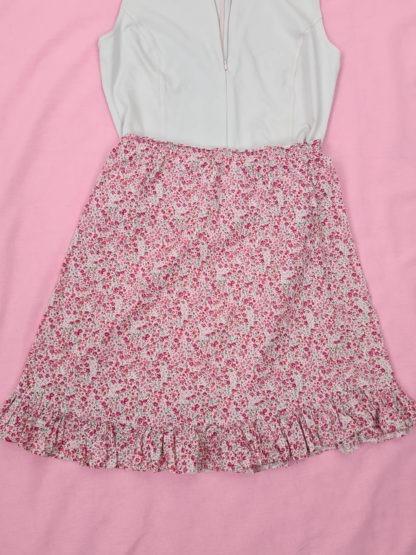 jupe légère blanche motif fleuri (2)