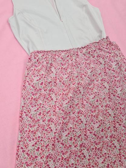 jupe légère blanche motif fleuri (3)