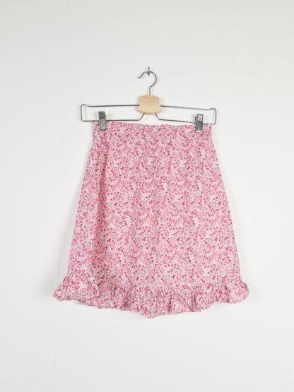 jupe légère blanche motif fleuri (4)