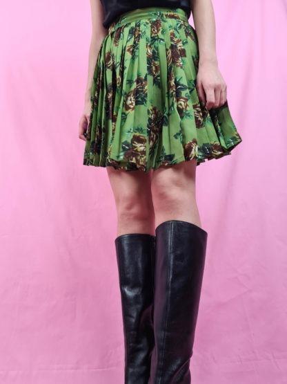 jupe plissée courte motif fleuri Cacharel (4)