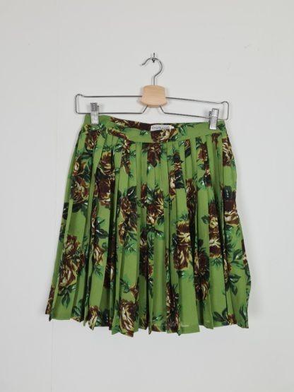 jupe plissée courte motif fleuri Cacharel (5)