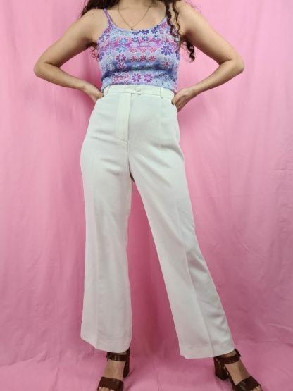 pantalon à pince blanc (1)
