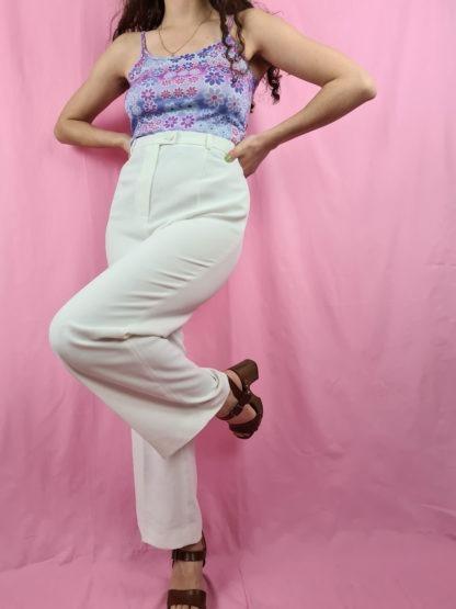 pantalon à pince blanc (2)