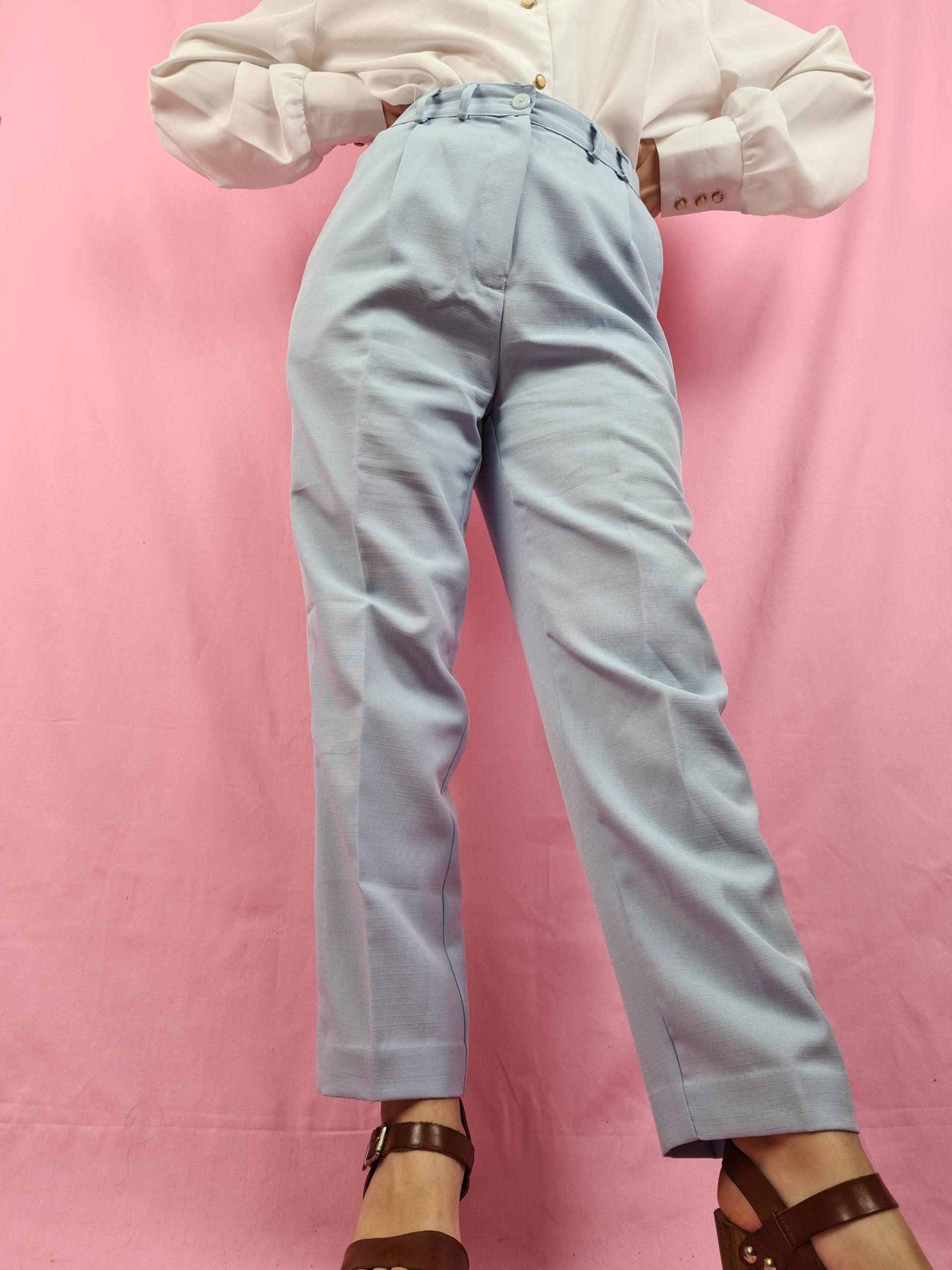 pantalon à pince bleu pastel (3)